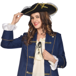 Lace & Gold Trim Pirate Hats - 6 PC