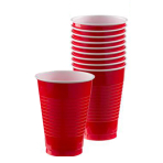 Apple Red Plastic Cups 355ml - 10 PKG/20