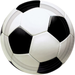 Championship Soccer Plates 17.7cm - 12 PKG/8