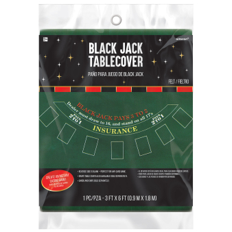 Casino Felt Game Blackjack Tablecovers 0.9m x 1.8m - 6 PC