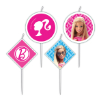 Barbie Sparkle Mini Characters Pick Candles 3cm x 2.5cm - 6 PKG/4