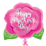 Happy Mother's Day Pink Rose Jnr Shape S40  - 5 PC