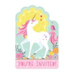 Magical Unicorn Postcard Invitations - 6 PKG/8
