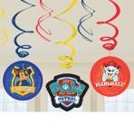 Paw Patrol Swirl Decorations - 6 PKG/6