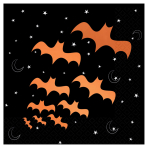 Bats Hot Stamped Luncheon Napkins 33cm - 6 PKG/16