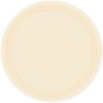 Vanilla Creme Paper Plates 22.8cm - 12 PKG/8