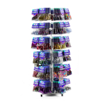 Counter Top Confetti Spinner Stand - 36 Hooks- 86cm h, 25cm w - 1 PC