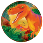 Prehistoric Party Metallic Plates 17.7cm - 12 PKG/8