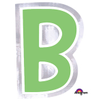 Personalised Letter: B Stickers - 48 PC