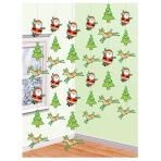 Santa String Decorations 2.1m - 6 PKG/6