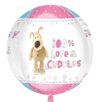 "Boofle Happy Birthday Orbz Foil Balloons 15""/38cm x 16""/40cm - G40 5 PC"