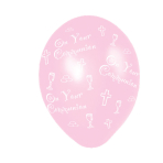 Communion Pink Latex Balloons - (All Over Print) - 27.5cm - 6 PKG/25