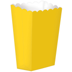 Yellow Small Paper Popcorn Boxes - 24 PKG/5
