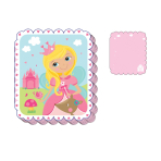 Woodland Princess Block Die Cut Notepad - 48 PC