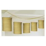 Gold Lantern Garlands 3.65m - 6 PC