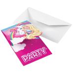 Barbie Dreamtopia Stand-up Invitations - 10 PKG/8