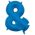 "Symbol & Blue Minishape Foil Balloons 16""/40cm A04 - 5 PC"