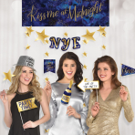 Midnight NYE Photo Booth Kits - 6 PC