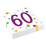 Confetti Birthday 60th Birthday Luncheon Napkins 33cm - 10 PKG/20