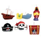 Pirates Treasure Mini Moulded Cake Candles  - 3.2cm 6 PKG/6