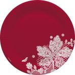 Red Paper Plates 23cm - 10 PKG/8