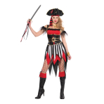 Adults Shipwreck Treasure Pirate Costume - Size 10-12 - 1 PC