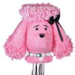 Pink Poodle Pull Pinatas - 4 PC