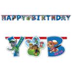 Paw Patrol Happy Birthday Letter Banners 1.6m x 11cm - 10 PKG
