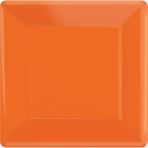 Orange Peel Square Paper Plates 25cm - 6 PKG/20