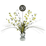 Gold Sparkling Celebration 50th Spray Centrepieces 33cm - 6 PC