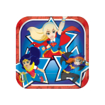 DC Super Hero Girls Square Paper Plates 18cm - 6 PKG/8