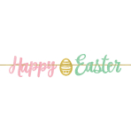 Happy Easter Glitter Ribbon Banners 3.65m - 6 PC