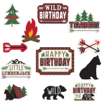 Little Lumberjack Cut-Outs - 12 PKG/12