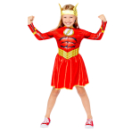 The Flash Girl Sustainable Costume - Age 8-10 Years - 1 PC