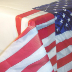 USA Flying Colours Paper Tablecovers - 6 PC