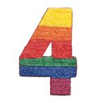 Numbers 4 Pinatas - 4 PC