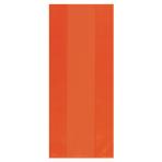 Large Orange Cello Party Bags - 12 PKG/25