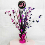 Pink Sparkling Celebration 40th Spray Centrepieces 33cm - 6 PC
