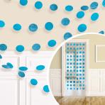 Caribbean Blue Glitter String Decoration 2.13m - 6 PKG/6