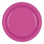 Magenta Plastic Plates 23cm - 10 PKG/10