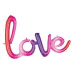 """Love Ombre Phrase Foil Balloons 31""""/78cm x 21""""/53cm G40  - 5 PC"""