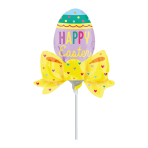 Easter Egg with Bow Mini Shape Foil Balloons A30 - 5 PC