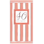 Folded Invite 40th Anniversary - 6 PKG/8