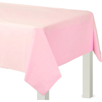 Baby Pink Rectangular Plastic Tablecovers 1.37m x 2.74m - 12 PC