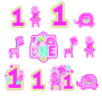One Wild Girl Cutouts Pack - 12 PKG/12