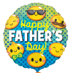 Happy Father's Day Emoticons Standard Foil Balloons S40 - 5 PC
