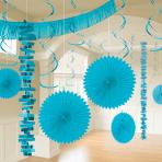 Caribbean Blue Room Decoration Kits - 6 PKG/18