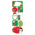 Traditional Christmas Adhesive Labels - 18 PKG/48