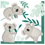 Koala Luncheon Napkins 33cm - 12 PKG/16
