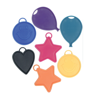 Assorted Colour Heavy Balloon Weights 7 colours 15g - 50 PC